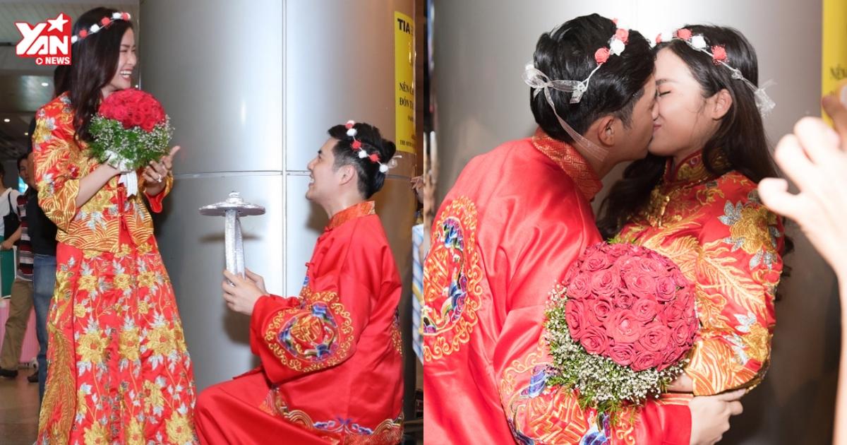 Quỳ gối cầu hôn Đông Nhi lần thứ 2 ở sân bay, Ông Cao Thắng: