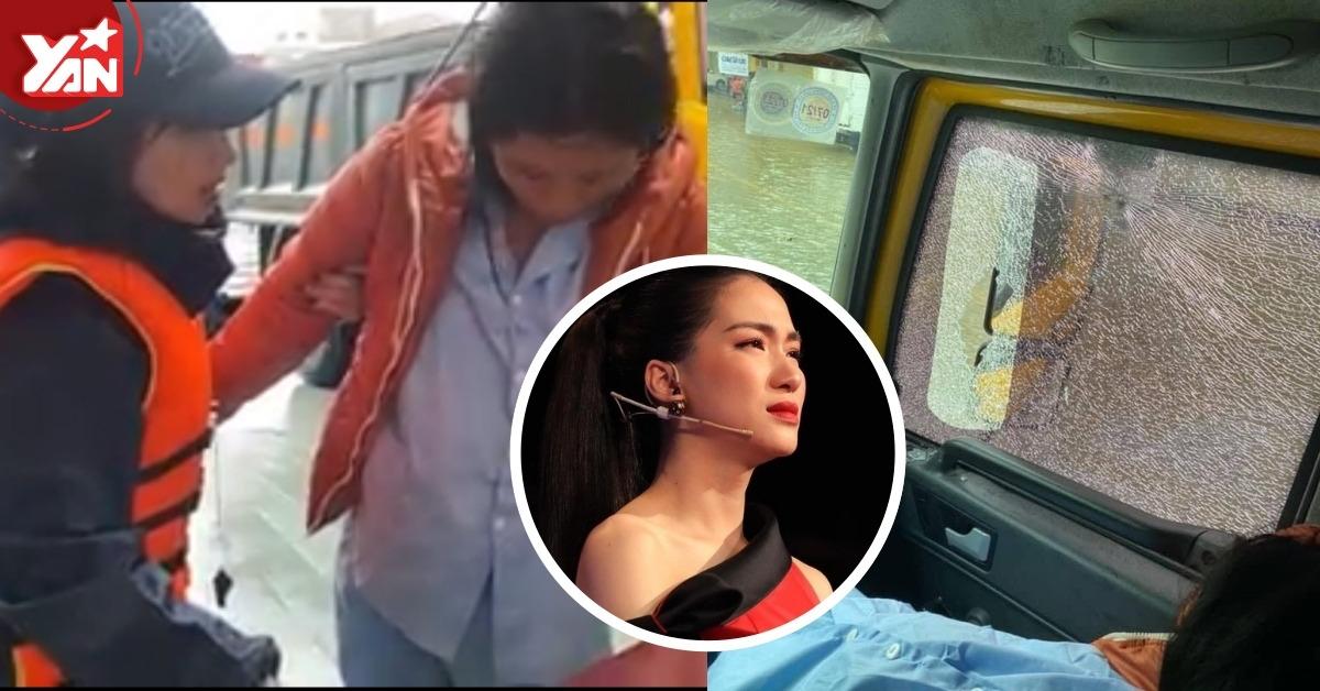 Hoà Minzy kêu trời vì bị người dân ném đá vỡ kính xe khi đang gấp chở thai phụ đi cấp cứu