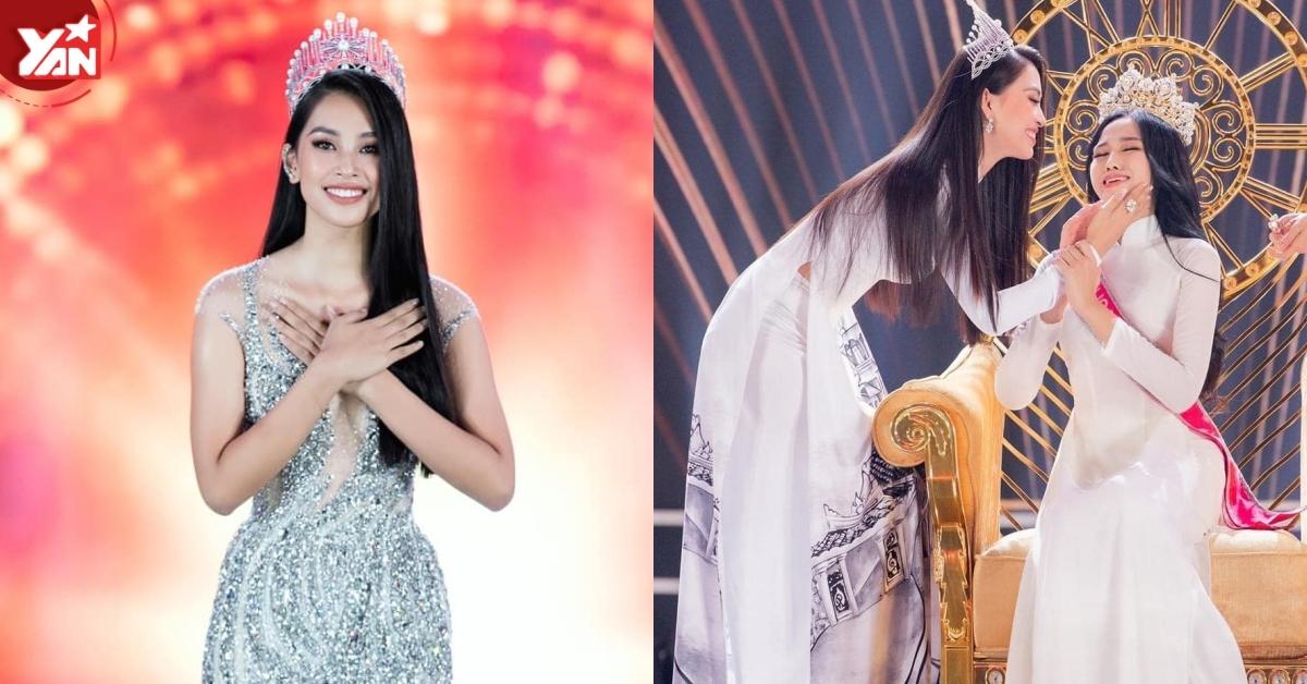 Trần Tiểu Vy nhắn nhủ đến tân Hoa hậu Đỗ Thị Hà điều gì sau khi chuyển giao vương miện?
